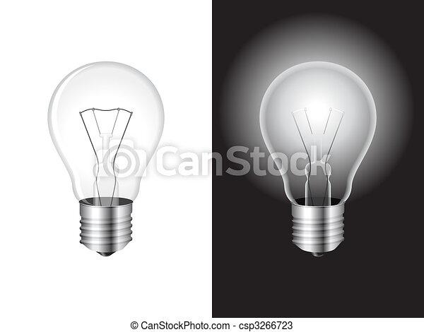 Light bulb. - csp3266723