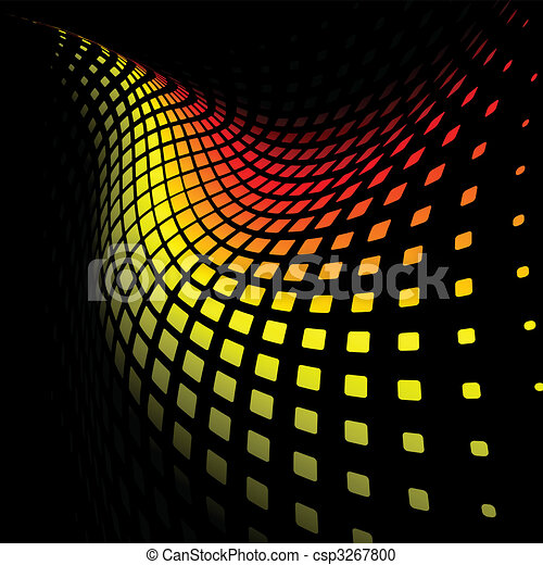 3d abstract dynamic yellow and red background - csp3267800