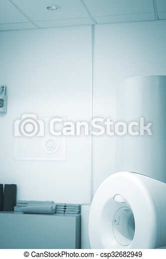 Fully open high field Magnetic Resonance Image MRI Nuclear CAT Scan scanner for scanning arm, wrist, hand and elbow.
