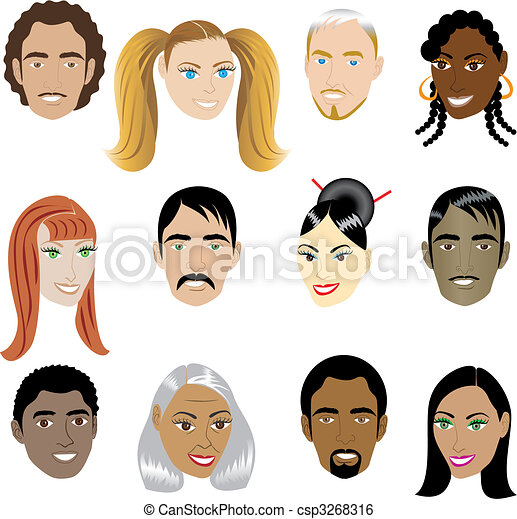 People Faces 1 - csp3268316