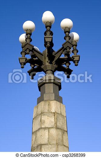 Lanterns of the Riga bridge - csp3268399