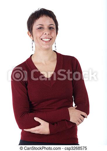 mulher, jovem, adulto - csp3268575