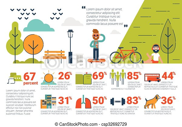 Park concept Infographic icons and elements - csp32692729