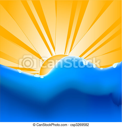 summer background with women silhouette. - csp3269582