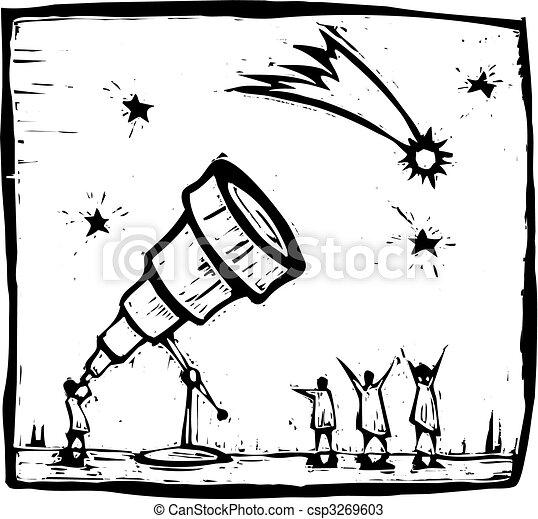 Telescope and Comet - csp3269603