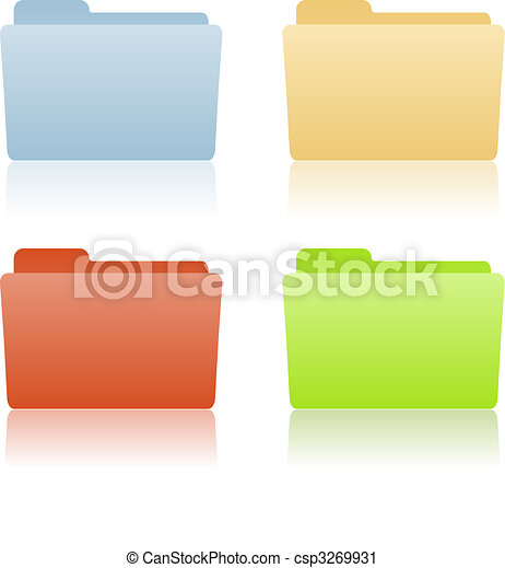 file folder with place for label  - csp3269931