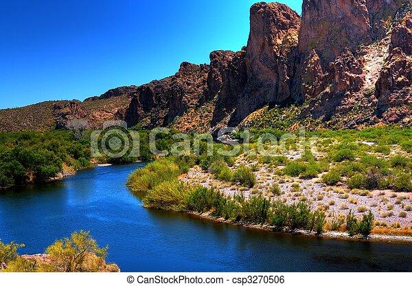 Desert River - csp3270506