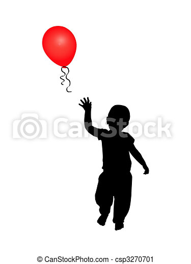 Child reaching for balloon - csp3270701