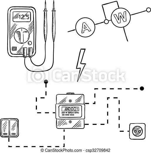 Electricity Meter Digital Electricity Meter Circuit Diagram