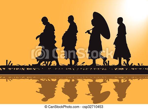 Monks Vector Clipart EPS Images. 1,563 Monks clip art vector ...