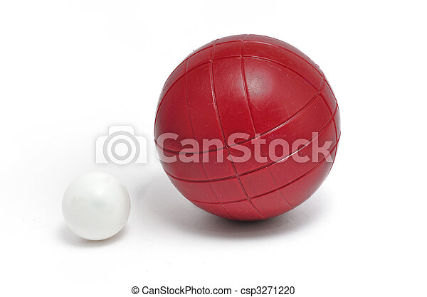 Red Bocce Ball and Pallino (Jack or Boccino) - csp3271220