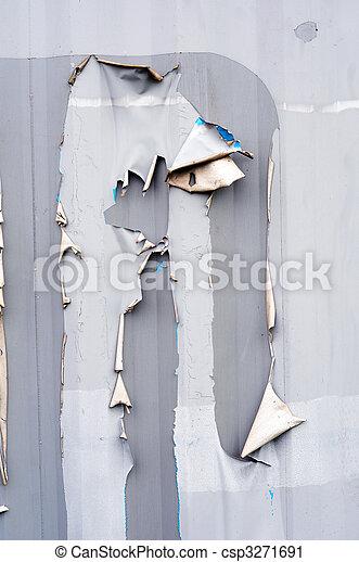 Torn ripped metal texture - csp3271691