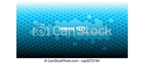 Abstract blue technical background - csp3272194