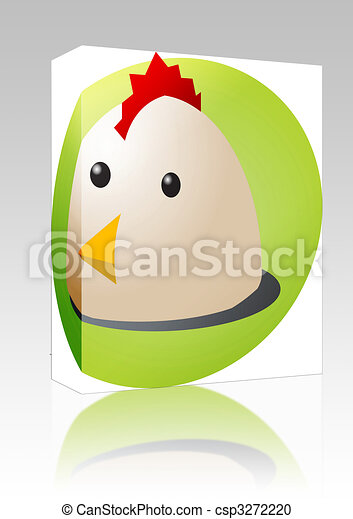 Chicken cartoon box package - csp3272220