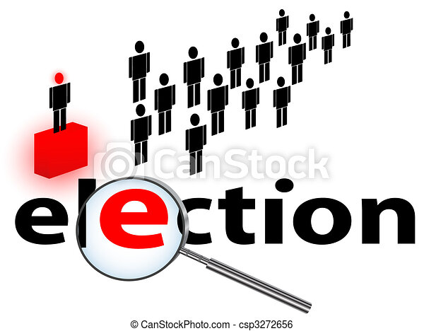 Clip Art Vector of election theme - illustration of election theme ...