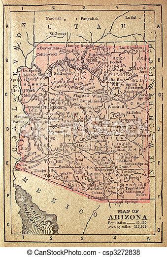 1880 Map of Arizona - csp3272838