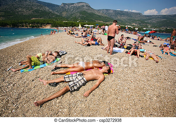 Zlatni Rat in Croatia - csp3272938