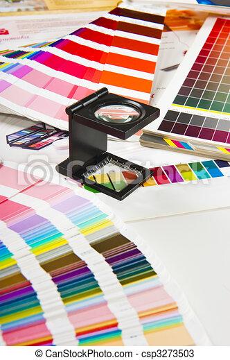 Press color management - print production - csp3273503