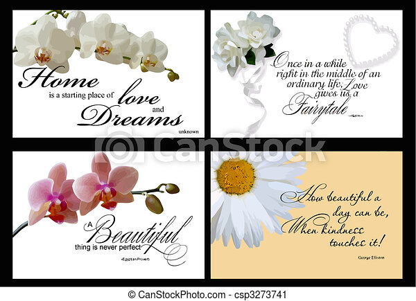4 inspirational card vectors - csp3273741