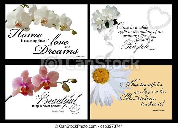 4 inspirational card vectors - csp3273741
