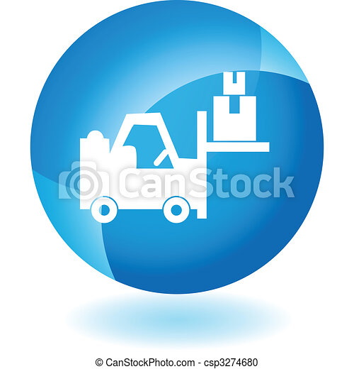 Warehouse Forklift Icon - csp3274680