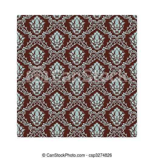 seamless damask pattern - csp3274826