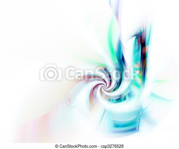 Abstract Fractal Twirl - csp3276528