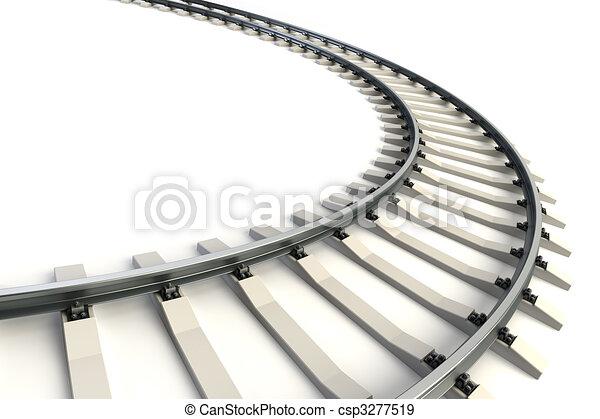 isolated railway - csp3277519