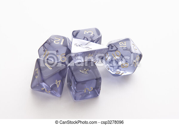 Set of role playing dice - csp3278096