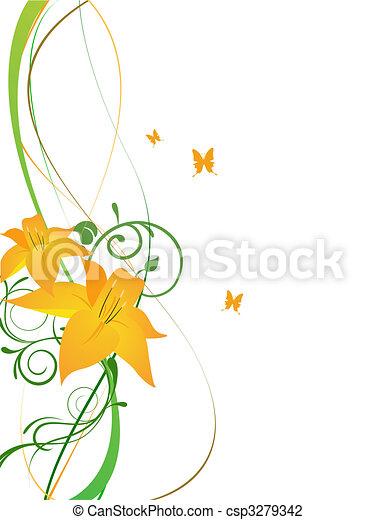 elegant flowers - csp3279342