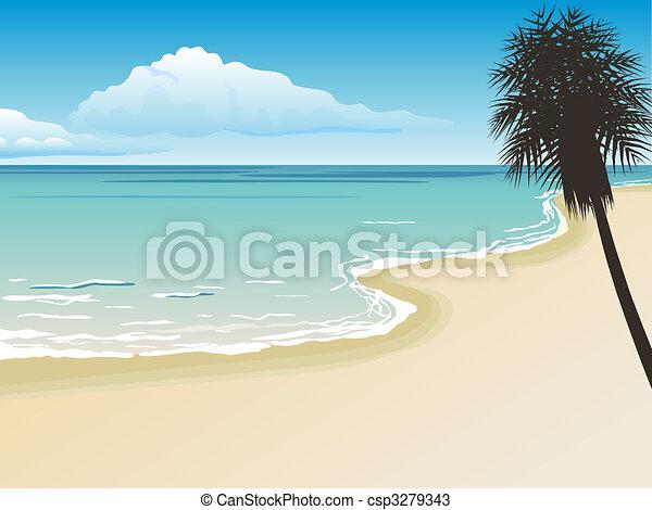 beautiful beach - csp3279343