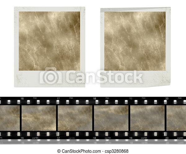 vintage retro instant photo frames  and film - csp3280868