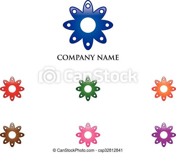 Flower Logo - csp32812841