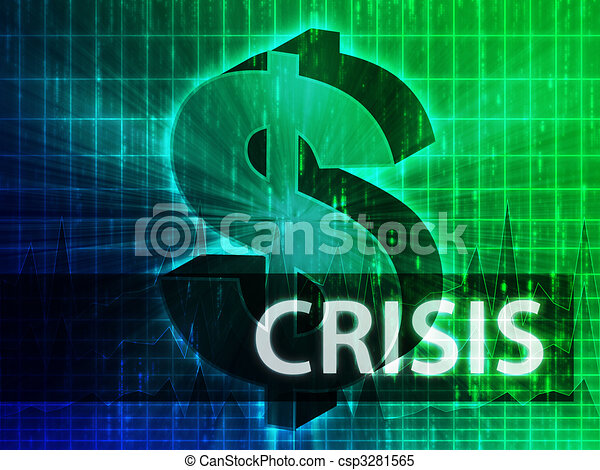 Crisis Finance illustration - csp3281565
