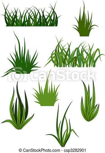 Green grass patterns - csp3282901