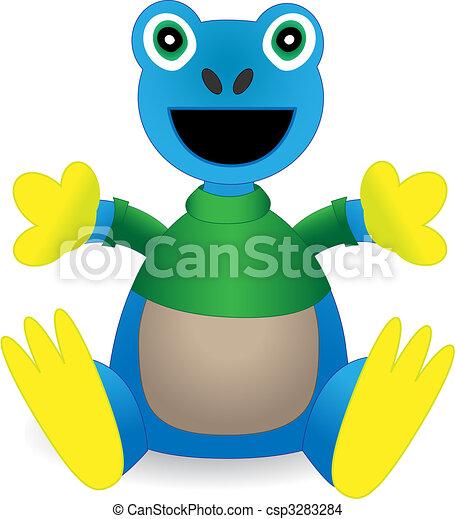 Stuffed Animal Exotic Amazon Frog Toy - Vector  - csp3283284
