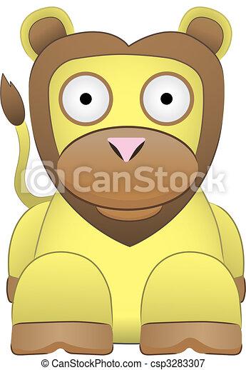 Adorable Lion Sitting - csp3283307