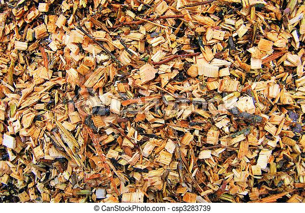 Biomass wood chips - csp3283739