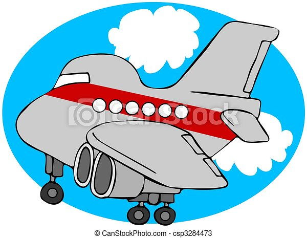 Cartoon Airliner - csp3284473