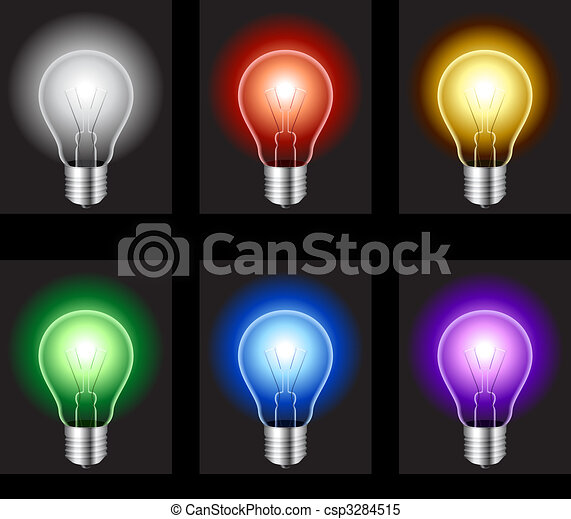 Light bulbs. - csp3284515