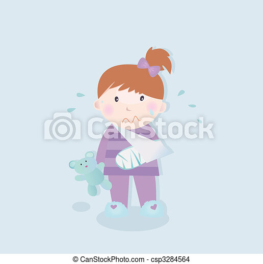 Small patient - child with fractured bone - csp3284564