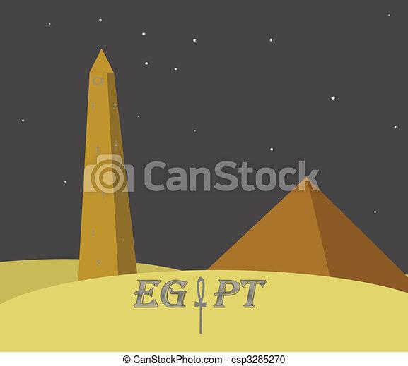 egypt monuments - csp3285270