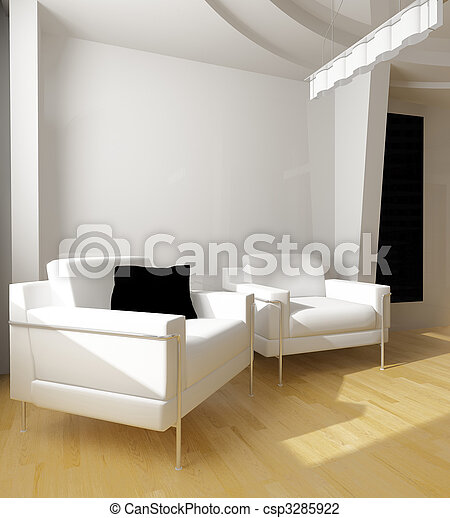 white drawing room - csp3285922