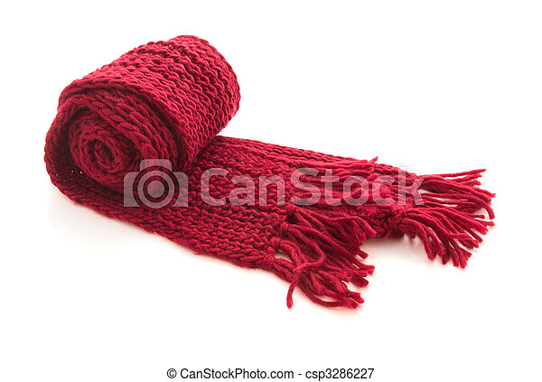 Wool knitted scarf - csp3286227