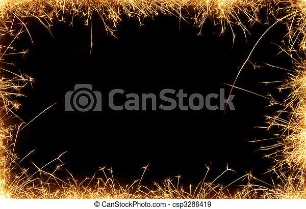sparklers border - csp3286419