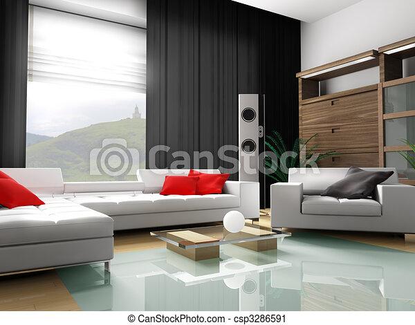 Modern interior of an apartment - csp3286591