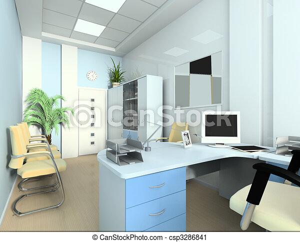 clipart de bureau comptable moderne int rieur bureau exclusif csp3286841 recherchez. Black Bedroom Furniture Sets. Home Design Ideas