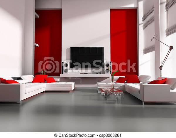 Clipart van tv kamer moderne interieur witte tekening tv kamer csp3288261 zoek naar - Moderne witte kamer ...