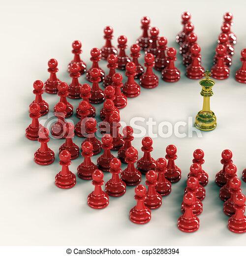 King gathers his pawns - csp3288394
