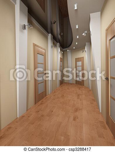 Archivio illustrazioni di moderno corridoio moderno - Pittura corridoio moderno ...